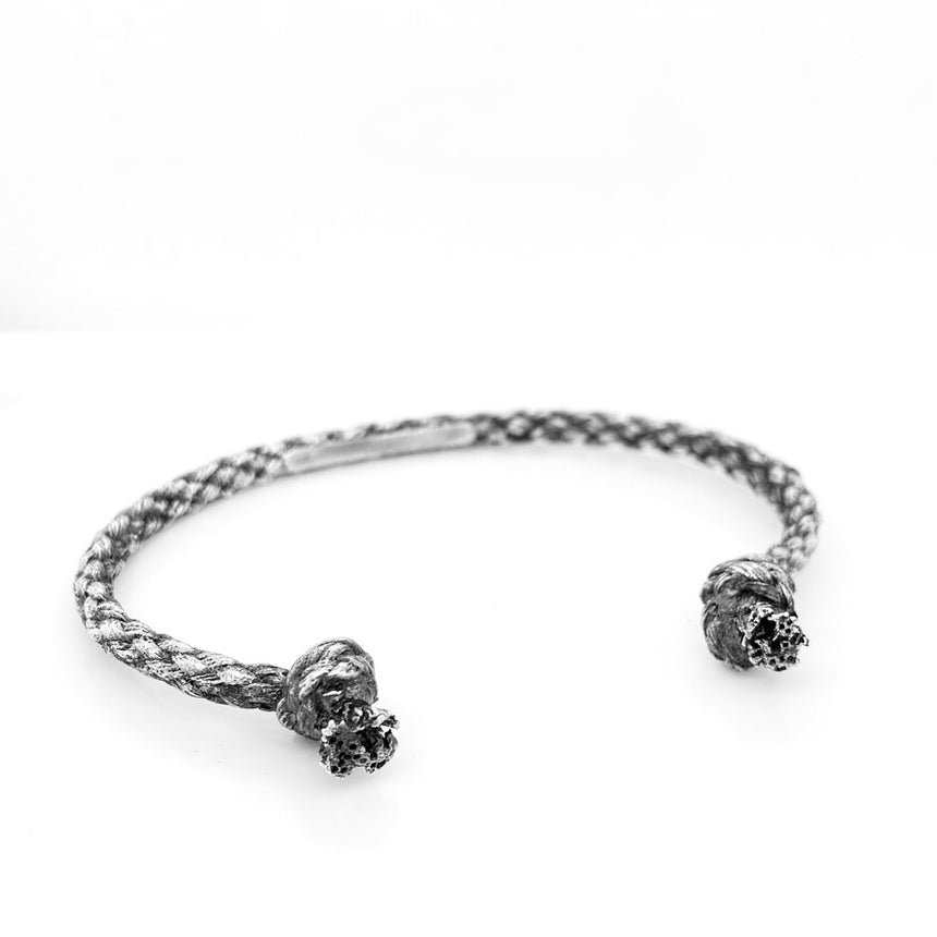 Silver Rope Knot Cuff