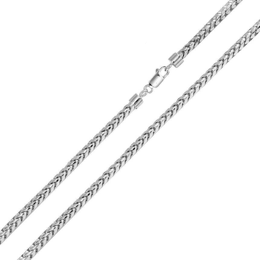 Round Franco Chain Sterling Silver 3.2mm
