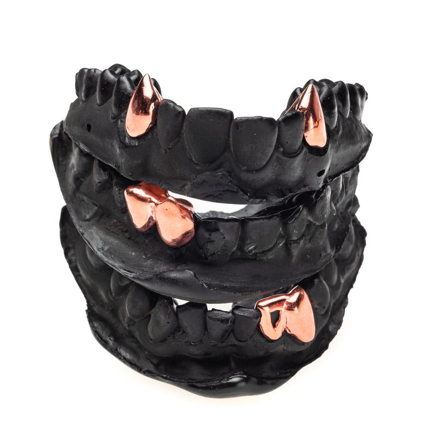 Fang Grillz Rose Gold Silver