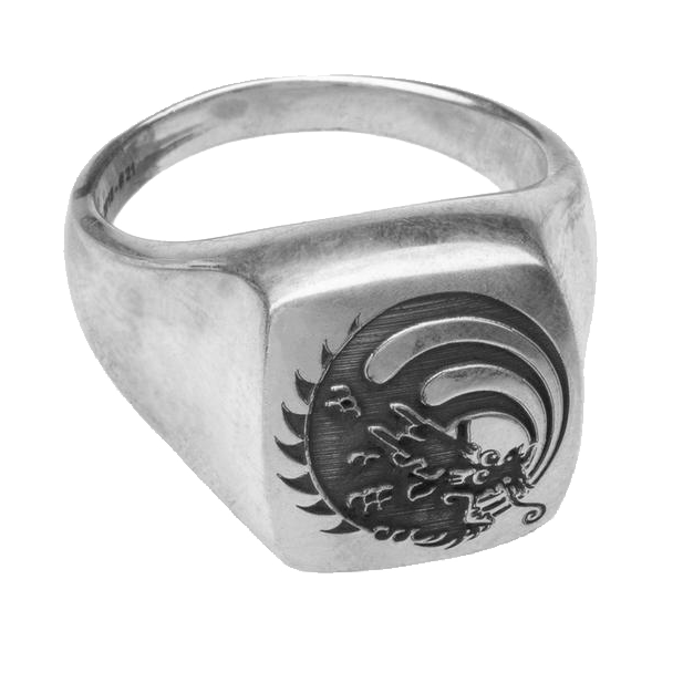 Morton's List Ring: Rainbow Dragon