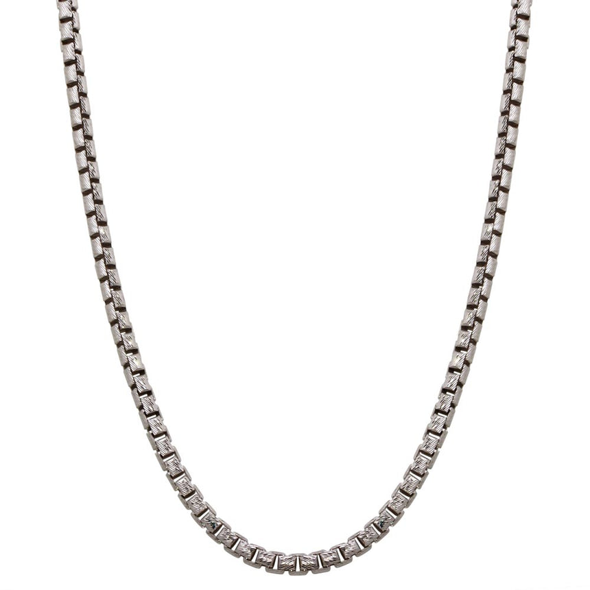 Diamond Cut Round Box Chain 3.8mm Hanging