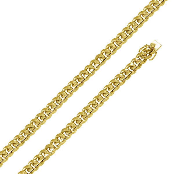 16.5mm Sterling Silver Gold Plated Miami Curb Chain