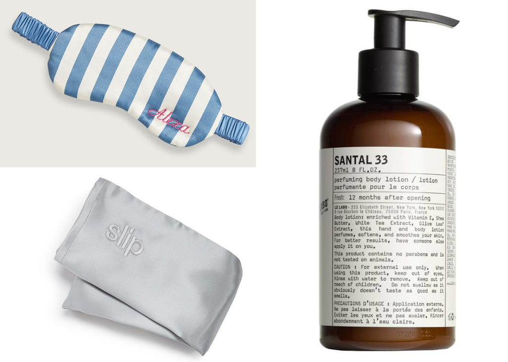 Give Mom the gift of relaxation with this monogrammed silk eye mask in periwinkle blue and cream stripes a silk pillowcase thatu0027s easy on her hair while ...  sc 1 st  A Southern Bucket & Motheru0027s Day Gift Guide - Luxury Gifts for Mom - A Southern Bucket