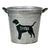 Personalized Labrador Dog Toy Bucket