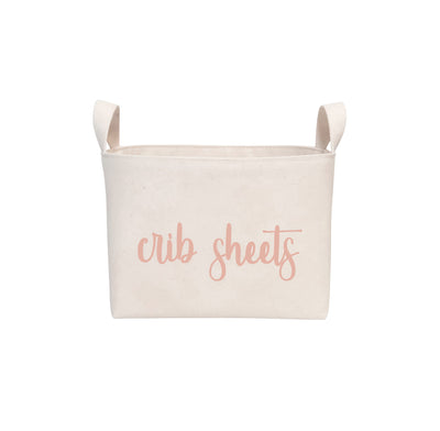 Blush Canvas Nursery Storage