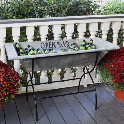 Open Bar Vintage Beverage Trough
