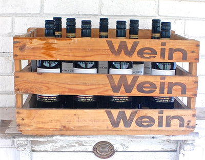 "Personalized  Crate ""Wein"" Distressed"