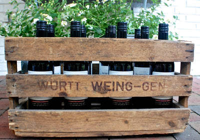 "Personalized Vintage Wine Crate ""Wein"" Distressed for bottles"