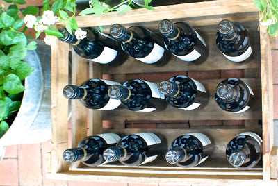 "Personalized Vintage Wine Crate ""Benz-Wein"" for twelve bottles"