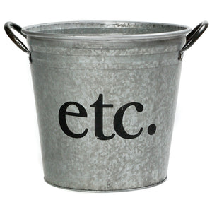 Etc. Galvanized Storage Bucket - A Southern Bucket - 1