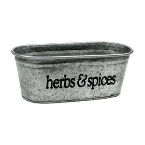 Herbs & Spices Galvanized Tub - A Southern Bucket - 1