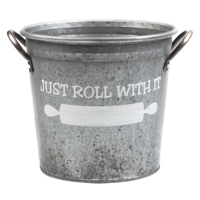 just roll with bucket