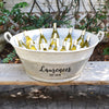 French Vintage Zinc Tub Personalized with Family Name and Est. Year - A Southern Bucket
