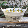 French Vintage Zinc Tub Personalized with Name