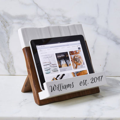 Personalized Reclaimed Woody Cookbook Holder