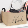 Sophia Personalized Burlap Storage Basket - A Southern Bucket