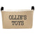 Personalized Rectangular Burlap Toy Bin