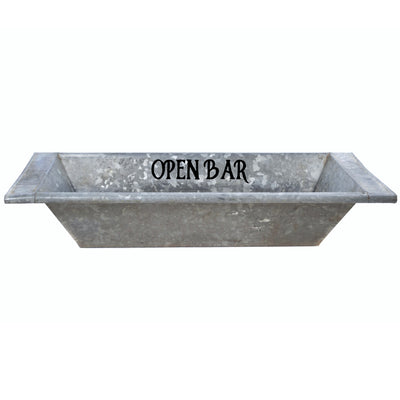 Open Bar Vintage Galvanized Zinc Wine