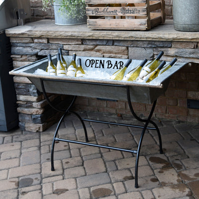 Open Bar Vintage Galvanized Zinc
