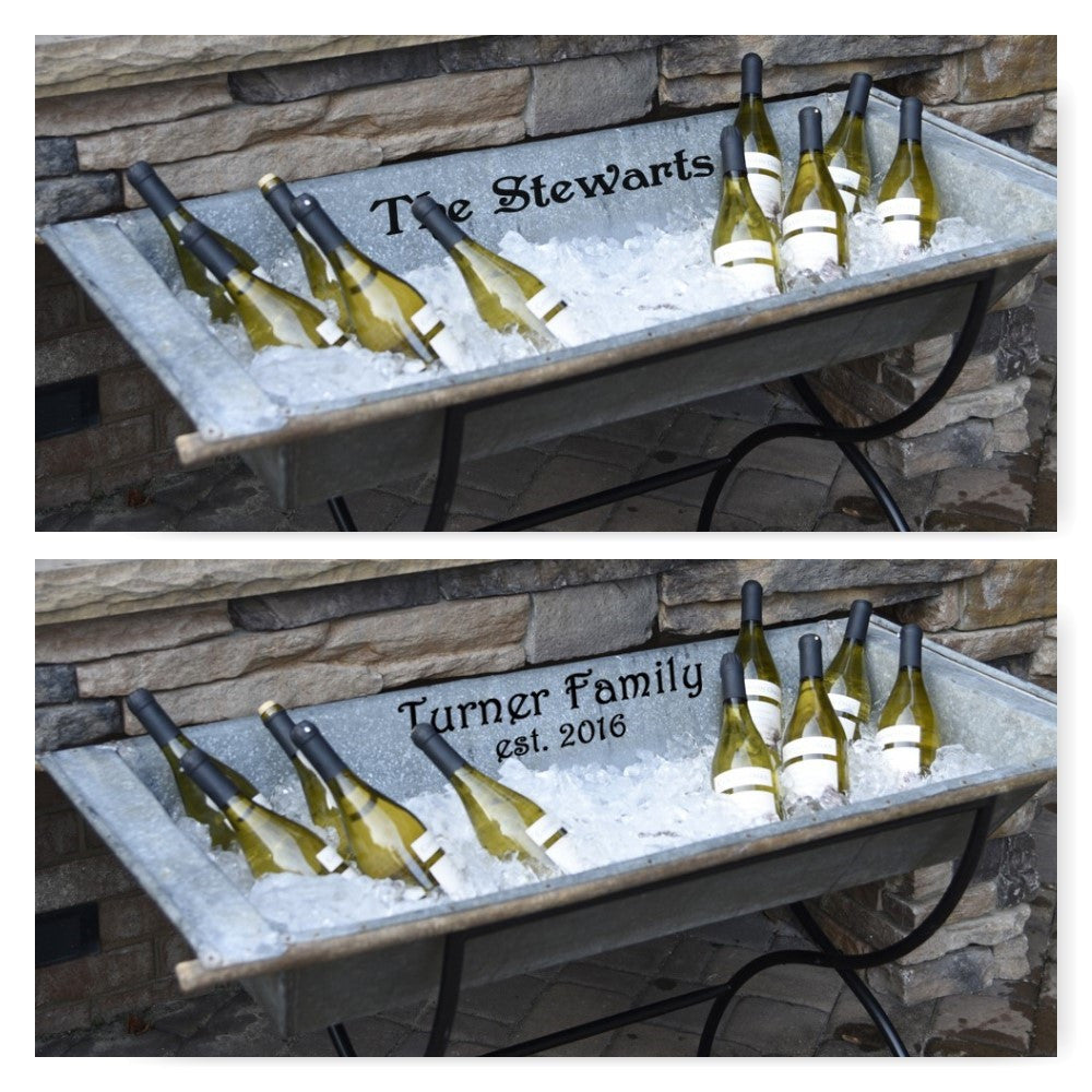 Personalized Vintage Beverage Trough - A Southern Bucket - 1