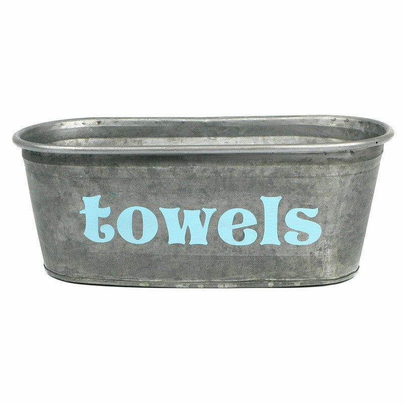 Towels Galvanized Tub - A Southern Bucket - 1