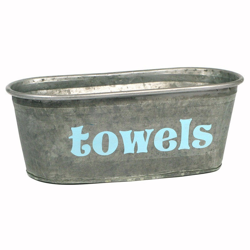 Towels Galvanized Tub - A Southern Bucket - 3