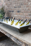 Vintage Zinc Galvanized Metal Beverage Trough