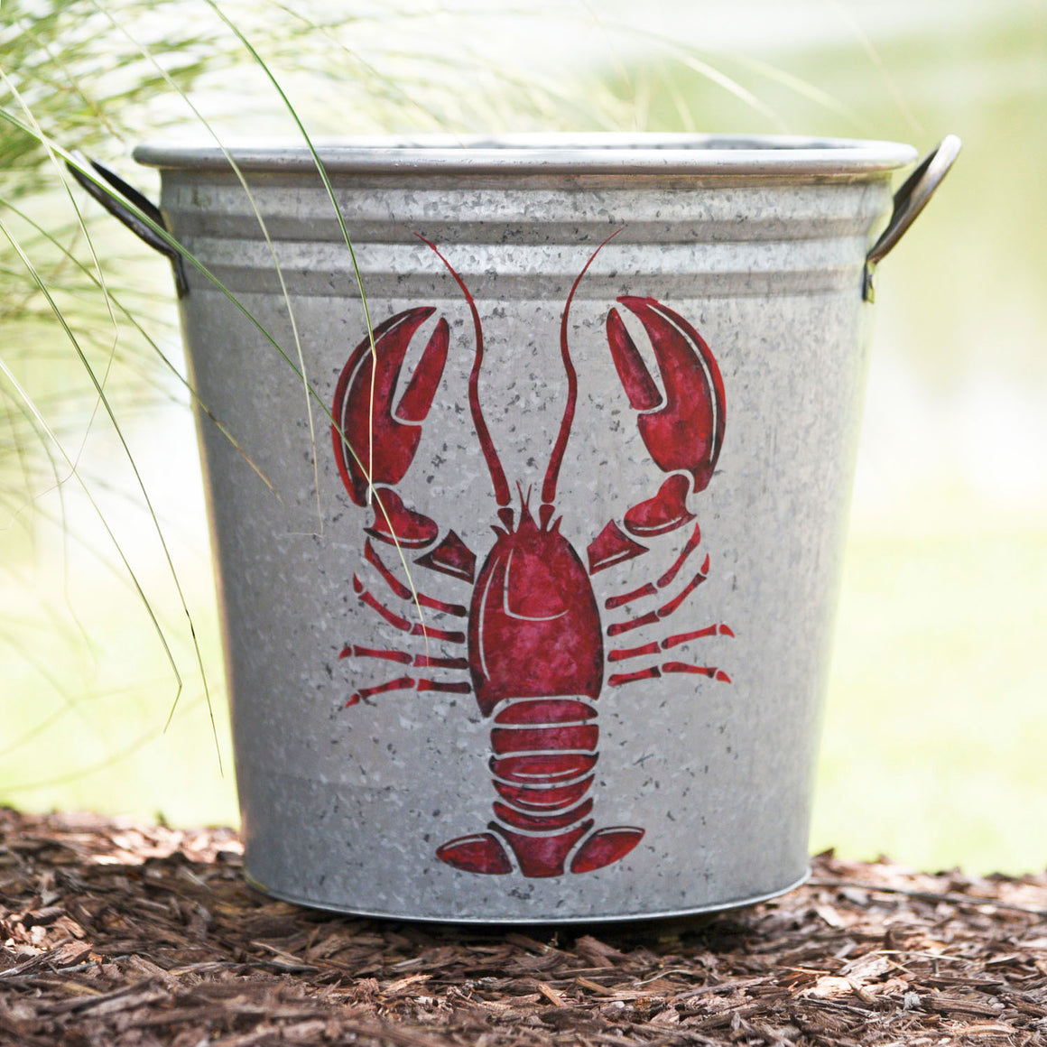 Lobster Galvanized Storage Bucket - A Southern Bucket - 2