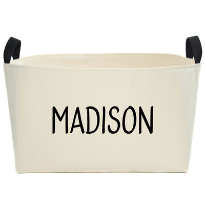 Madison Personalized Canvas Basket