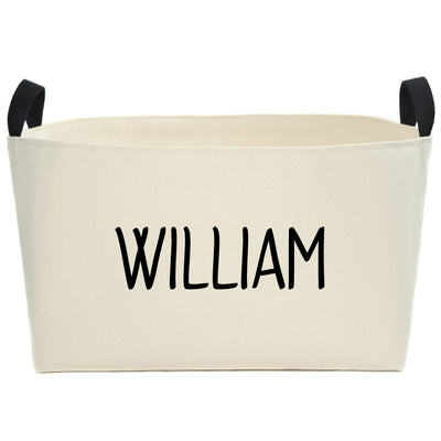 Madison Personalized Canvas Storage Bin