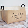 Sophia Personalized X-Large Burlap Storage Bin - A Southern Bucket - 2