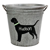 Personalized Black Lab Galvanized Storage Bucket - A Southern Bucket - 2