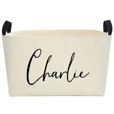 Sophia Personalized Canvas Basket