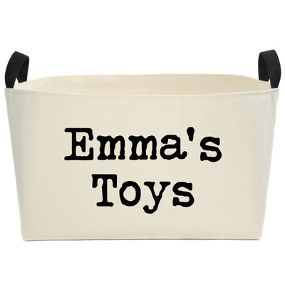 Modern Personalized Canvas Toy Bin