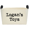 Personalized Rectangular Canvas Toy Bin