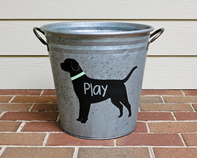 Personalized Black Lab Galvanized Storage Bucket - A Southern Bucket - 4