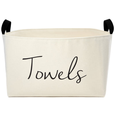 Towels Canvas Storage Bin, X-Large - A Southern Bucket - 2