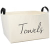Towels Canvas Storage Bin, X-Large - A Southern Bucket - 1