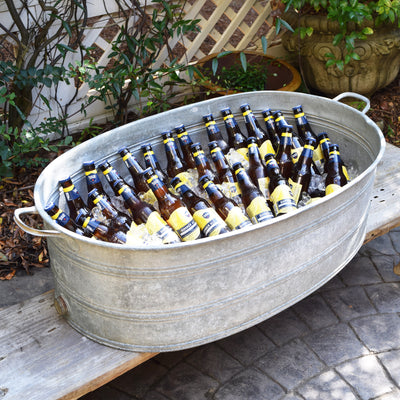 Open Bar French Vintage Zinc Wine Tub - A Southern Bucket