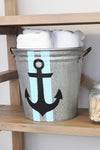 Anchor Decorative Metal Storage Bucket - A Southern Bucket