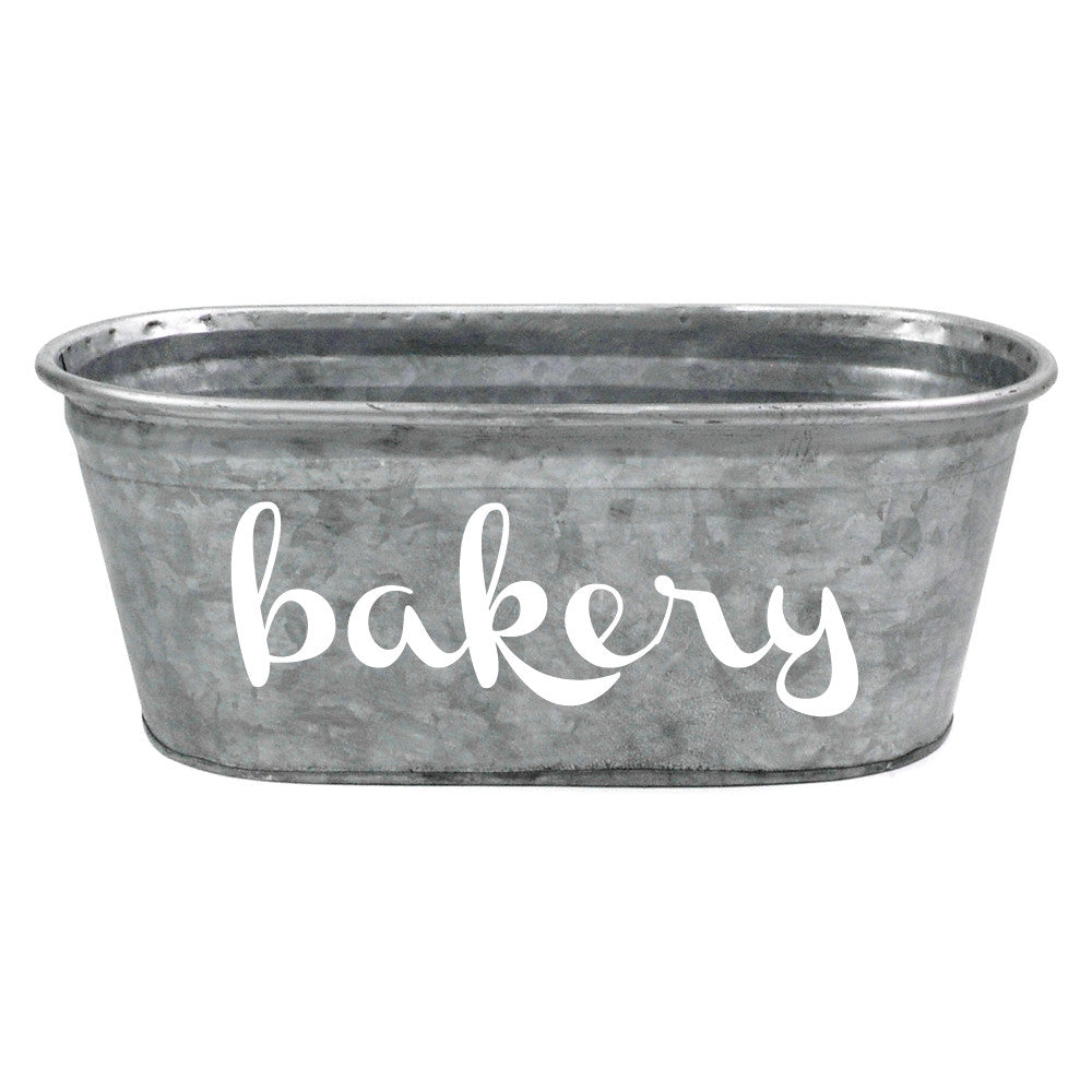 Bakery Galvanized Tub - A Southern Bucket - 1