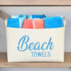 Beach Towels Canvas Storage Basket - A Southern Bucket