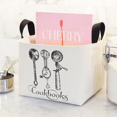 Cookbooks Canvas Basket - A Southern Bucket