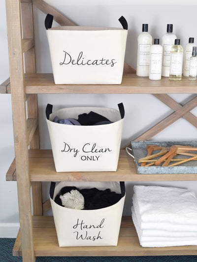 Delicates Canvas Laundry Bucket