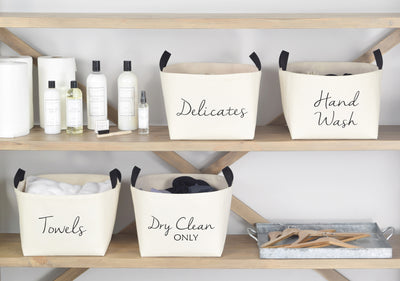 Dry Clean Only Canvas Laundry Baskets