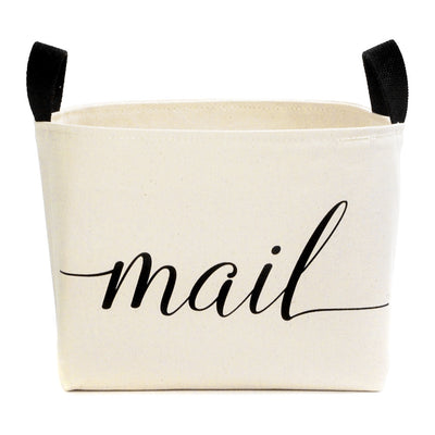 Mail Canvas Storage Bin - A Southern Bucket - 3