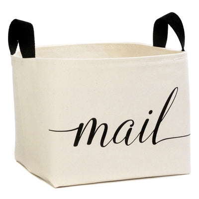 Mail Canvas Storage Bin - A Southern Bucket - 1