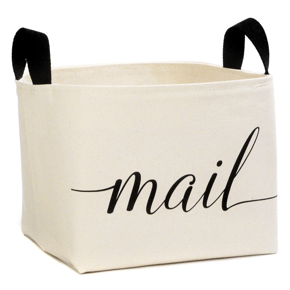 Mail Canvas Storage Bin