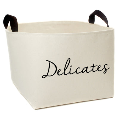 Delicates Laundry Canvas Storage Basket - A Southern Bucket - 2