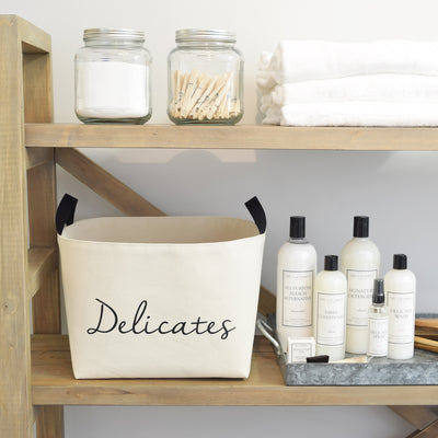 Delicates Luxury Laundry Gift Basket with The Laundress Soaps